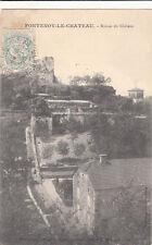 FONTENOY-LE-CHATEAU ruines du château timbrée 1905