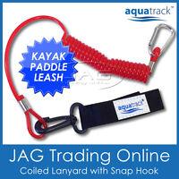 AQUATRACK KAYAK PADDLE LEASH - Canoe /Fishing Rod/Surf Ski Board Coiled Lanyard