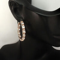 Unheated Pear Pink Morganite 5x3mm Rose Gold Plate 925 Sterling Silver Earrings