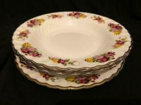 COALPORT SHREWSBURY 2000 - 2 X SOUP PLATES BOWL WITH RIM + 1 X SALAD PLATE 7.8""