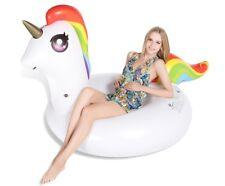 Ciambella Salvagente Unicorno Bianco 120x183x100 cm Estate in Relax su Onde Mare