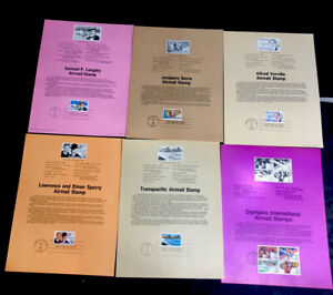 ODZ & ENDZ(7-11) 6 G-VG DIFFERENT AIRMAIL FIRST DAY OF ISSUE SOUVENIR PAGES 1634