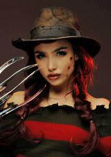 Womens Freddy Krueger Style Brown Fedora Hat