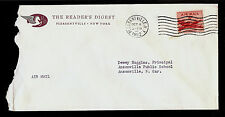 ADVERTISING COVER Reader's Digest C32 6c Air Mail Cancel Pleasantville NY 1952