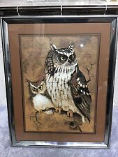 Richard Hinger Screech Owls Silver Tone Frame