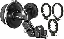 Movo F1X Precision Follow Focus System with 66mm 77mm 88mm Adjustable Gear Rings