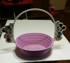 Vintage Disney Mickey & Minnie Mouse Easter Basket