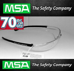 2 x MSA Nullarbor Safety Glasses  | Clear  | 100% EYE Protection UV protection
