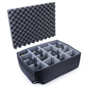 Padded Dividers (grey) for Pelican 1560 Case. Comes with lid foam.