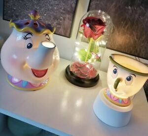 Scentsy Mrs Potts & Chip Tabletop & Wax🥀🌹Disney Beauty and the Beast
