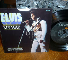 "*<* 1st POSTHUMOUS ELVIS 45 ""MY WAY/AMERICA"" CLEAN 1977 M- GEM w/PICTURE SLEEVE!"