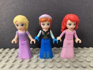 Lego Friends Disney Mini Figure Dolls Bundle Princess Ariel Anna Frozen Rapunzel
