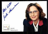Uschi Neumann MDR Autogrammkarte Original Signiert ## BC 27302