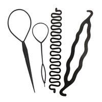 4 X Frauen Mädchen Haar Styling Clip Stick Brötchen Maker Braid Tool Zubehör