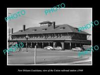 OLD 8x6 HISTORIC PHOTO OF NEW ORLEANS LOUISIANA UNION RAILROAD STATION c1940