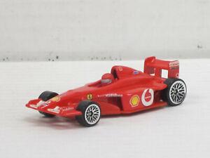 Ferrari Rennwagen Formel 1 in rot Nr.1 + Fahrer, ohne OVP, Hot Wheels, ca. 1:64
