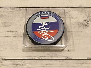 Andrei Markov Signed Team Russia Hockey Puck Autographed Go Canadiens a