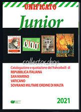 UNIFICATO JUNIOR 2021 CATALOGO PER FRANCOBOLLI ITALIANI SAN MARINO VATICANO SMOM