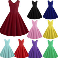 Vintage Retro Swing 50s 60s Housewife Rockabilly Pinup Evening Party Dress S-2XL