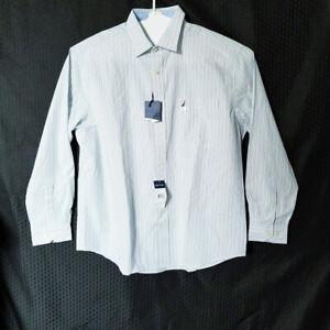 Nautica Men's Classic Striped Dress Shirt Size 17