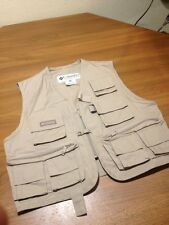 Columbia Khaki Fishing Game Photography Vest Womens L/XL POCKETS GALORE EUC