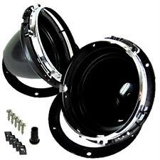 "7"" Headlight/headlamp Adjuster Mounting Bowls Gasket Chrome Rim Classic Mini...."