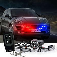 1 Kit  LED Red Blue Auto Car Strobe Emergency Warning Light Bars Deck Dash Grill