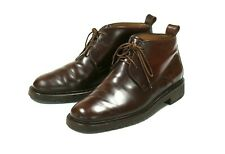 Bally Men's Brown Leather Lace-up Chukka Ankle Boots Size 7.5 US