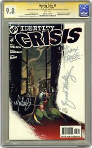 Identity Crisis #5A Turner Variant CGC 9.8 SS 2004 0764143015