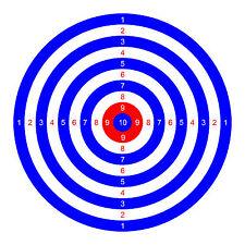 50 x TARGETS Airgun Rifle Pistol 22 177 Target Shooting Air Gun 14cm