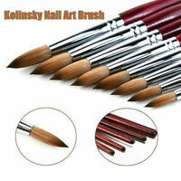 Kolinsky Acrylic Nail Art Brush Manicure Powder Wood Handle Tools Professional~