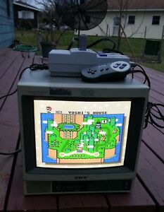 Sony Trinitron CRT Color Video Monitor PVM-1343MD Retro Gaming