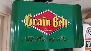 GRAIN BELT PREMIUM / NORDEAST BEER VINTAGE ERA SPINNING WALL MOUNT AD. SIGN