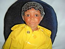 "Mary Van Osdell Fireman Jazz 24"" Tall Porcelain Doll African/American NIB COA"