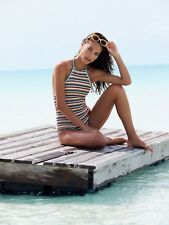 085e6a7a0143b BNWT Free People She Made Me Rainbow Crochet One Piece Halter Swimsuit  Small Med
