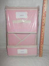 KangaRoom Storage pink Blockware nursery closet storage hamper sturdy cloth cube