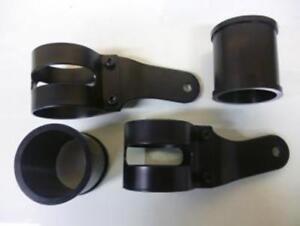 Knopfleiste Scheinwerfer Schwarz Für Motorrad 53/57mm 220-863 Zwei Räder Custom
