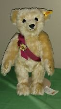 "Steiff 13"" Beautiful Golden Blonde Mohair Teddy Bear Signed by Tweed Roosevelt"