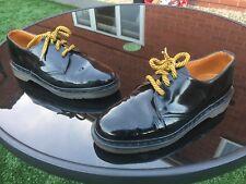 Vintage Dr Martens 1461 black patent leather shoes UK 6.5 EU 40 Made in England
