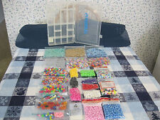 Huge Mixed Jewelry Making Craft Beads Some Unopened, Sizes, Shapes, Box Lot More