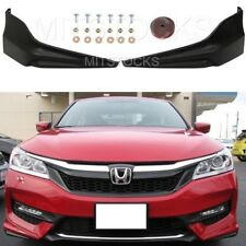 Fit For 2016-2017 Accord Sedan 4D HFP Style Front Bumper Lip Splitter Spoiler PU