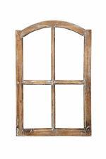 Deko-Fensterrahmen Holz- Rahmen Fenster-Attrappe Holz natur shabby gewischt