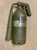 Kidde WWII 5T Fire Extinguisher Vintage WW2 CO2 Fire Extinguisher With Horn