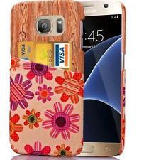 Patterned Card Pocket Fitted Cases for Samsung Mobile Phones