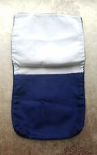 A36 Vintage Navy Blue Satin Fabric Possible Hanky Keeper Flap Bag Salvage