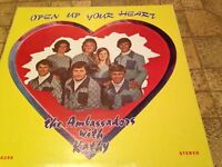 THE AMBASSADORS WITH KATHY Open Up Your Heart ORIGINAL LP VINYL RECORD ALBUM