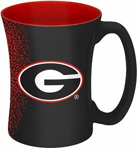 Georgia Bulldogs 14oz Coffee Mug NCAA Mocha Style