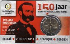 2 euro 2014   150 jaar RODE KRUIS * COINCARD * BELGIE *