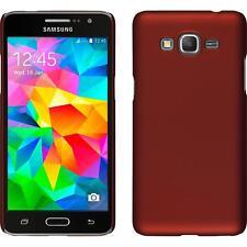 Funda Rígida Samsung Galaxy Grand Prime - goma rojo + protector de pantalla
