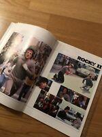 ROCKY II 2 Rare Japanese Film Souvenir PROGRAMME Sylvester STALLONE Apollo CREED